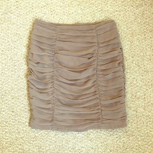 Forever 21 Light Brown Ruched Bodycon Skirt